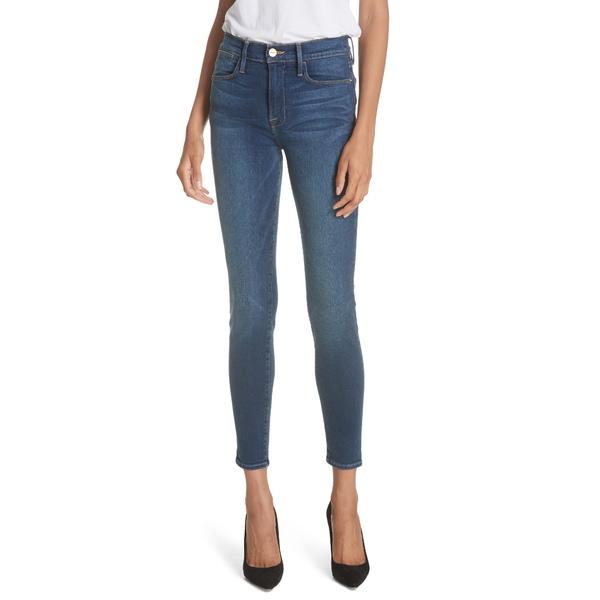 フレーム レディース デニムパンツ ボトムス Le High Ankle Skinny Jeans Columbia Road