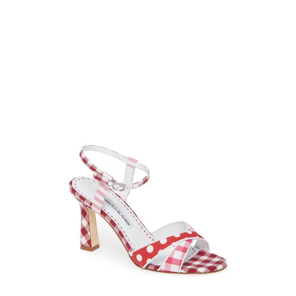 マノロブラニク レディース サンダル シューズ Fluida Strappy Sandal Pink Pattern