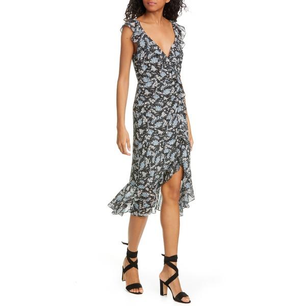 ヴェロニカ ベアード レディース ワンピース トップス Amal Ruffle Trim Silk Dress Black Multi