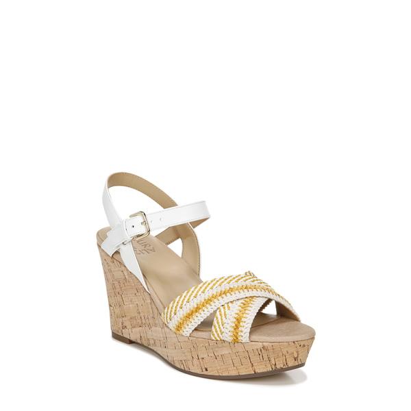 ナチュライザー レディース サンダル シューズ Zia Platform Wedge Sandal Yellow/ White