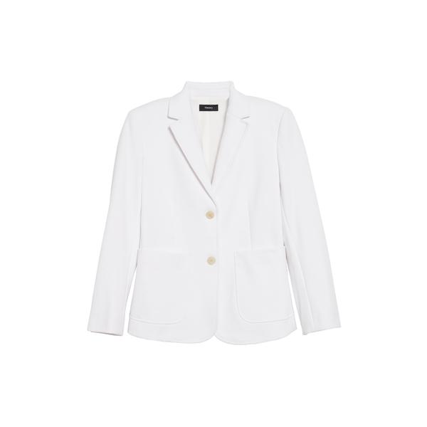 セオリー レディース ジャケット&ブルゾン アウター Shrunken Slim Fit Jacket Optic White