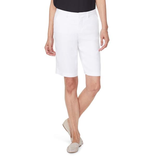 エヌワイディージェイ レディース カジュアルパンツ ボトムス Stretch Linen Blend Bermuda Shorts Optic White