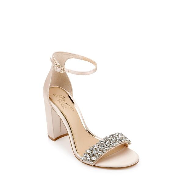 ジュウェルダグレイミシュカ レディース サンダル シューズ Baldwin Ankle Strap Sandal Champagne Satin