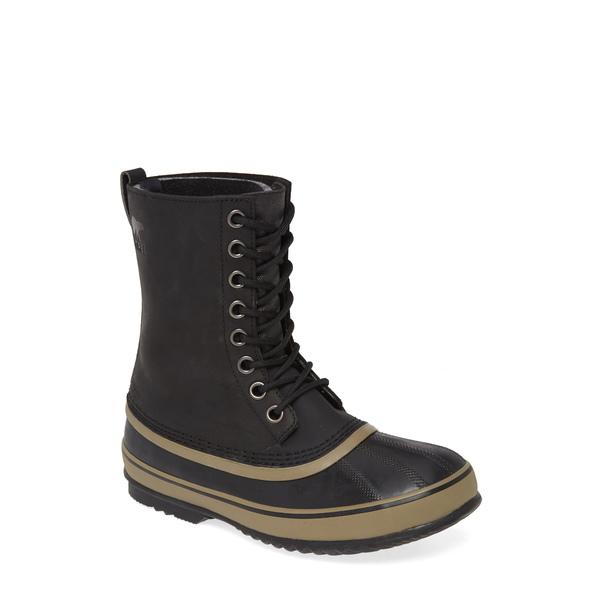 ソレル メンズ ブーツ&レインブーツ シューズ 1964 Waterproof Boot Black