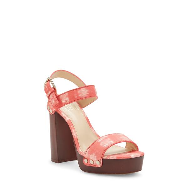 ヴィンスカムート レディース サンダル シューズ Lethalia Platform Sandal Clementine Leather