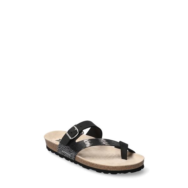 メフィスト レディース サンダル シューズ Nalia Slide Sandal Black Nubuck Leather
