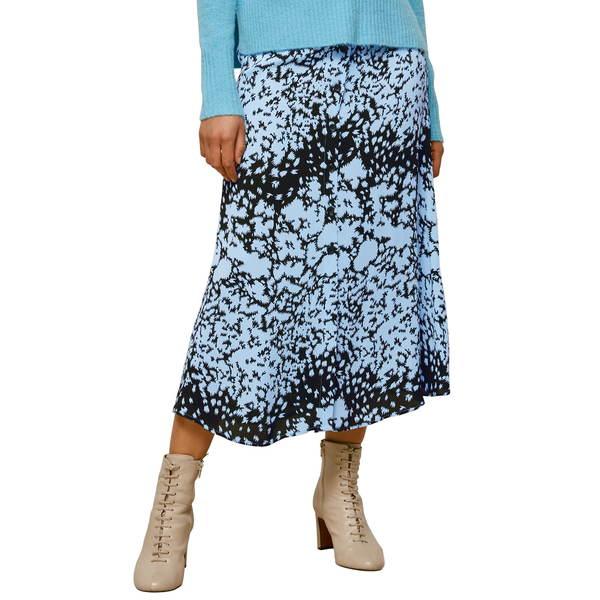 ホイッスルズ レディース スカート ボトムス Brushed Animal Print Midi Skirt Blue/ Multi