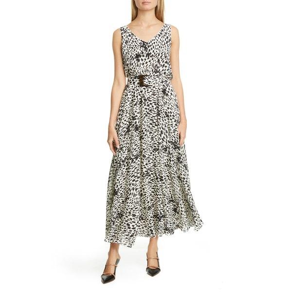 ラファイエットワンフォーエイト レディース ワンピース トップス Memphis Belted Silk Maxi Dress Black Multi