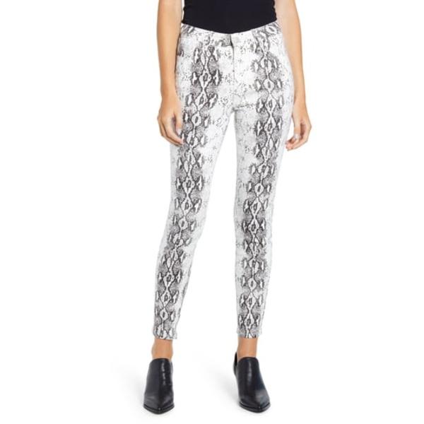プロスペリティデニム レディース デニムパンツ ボトムス Snake Print Skinny Jeans White