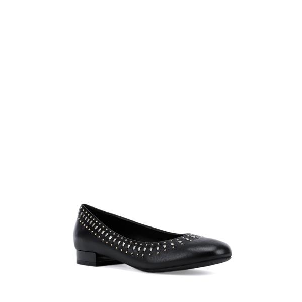 ジェオックス レディース サンダル シューズ Wistrey Flat Black/ Gold Nappa Leather