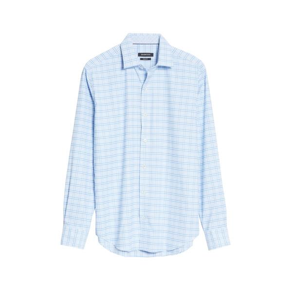 ブガッチ メンズ シャツ トップス Check Button-Up Performance Shirt Sky