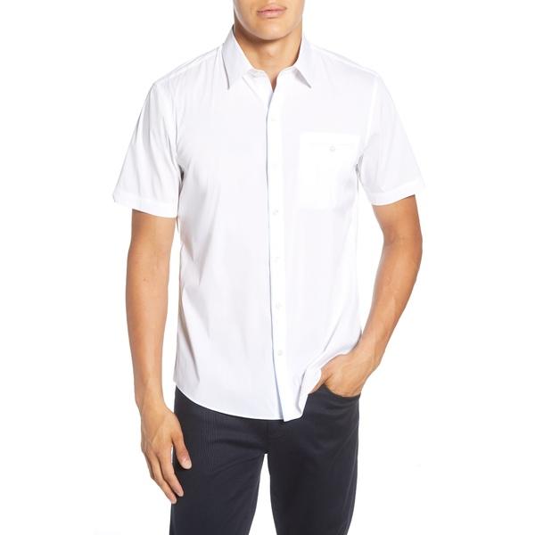 ザッカリープレル メンズ シャツ トップス Baumann Regular Fit Shirt Bright White