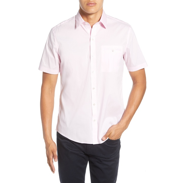 ザッカリープレル メンズ シャツ トップス Baumann Regular Fit Shirt Light Pink