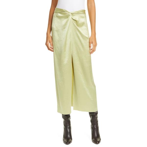 ナヌーシュカ レディース スカート ボトムス Samara Satin Midi Skirt Lime