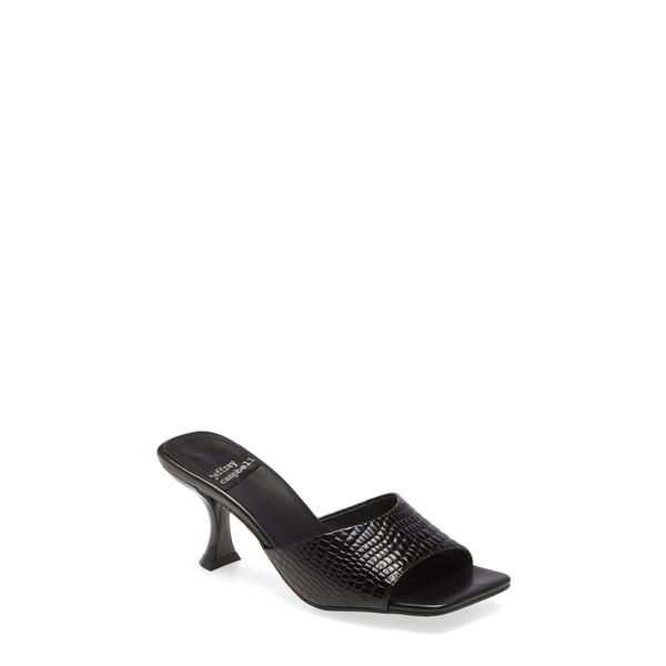 ジェフリー キャンベル レディース サンダル シューズ Mr-Big Slide Sandal Black Croco Patent