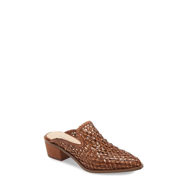 チャイニーズランドリー レディース サンダル シューズ Mayflower Woven Mule Cognac Faux Leather