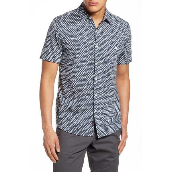 ファエティ メンズ シャツ トップス Coast Button-Up Shirt Fishscale Batik
