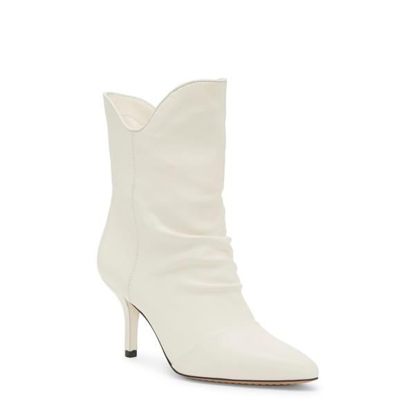 ヴィンスカムート レディース ブーツ&レインブーツ シューズ Andrissa Bootie Warm White/ Black Leather