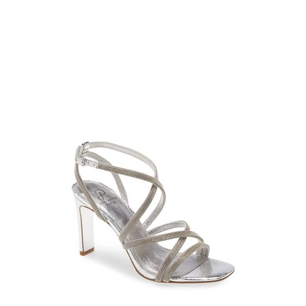 アドリアナ パペル レディース サンダル シューズ Armada Strappy Sandal Silver Glitter