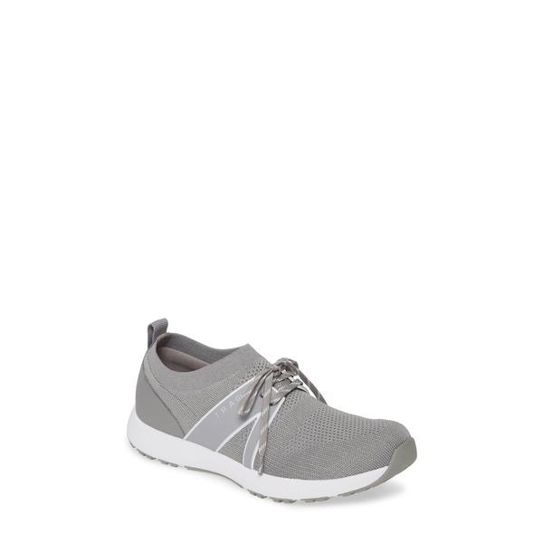 トラックバイアレグリア レディース スニーカー シューズ Alegria Qool Water Resistant Knit Sneaker Grey