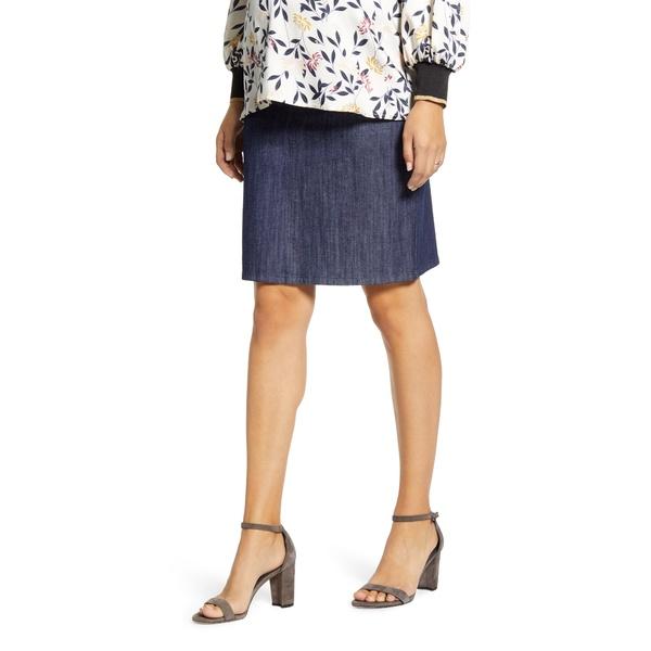 マターナルアメリカ レディース スカート ボトムス A-Line Maternity Skirt Med-Indigo