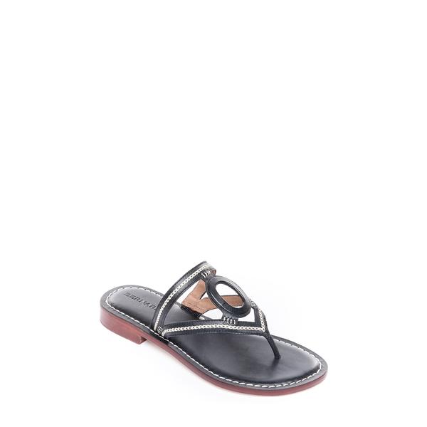 ベルナルド レディース サンダル シューズ Tania Slide Sandal Black Calf Leather