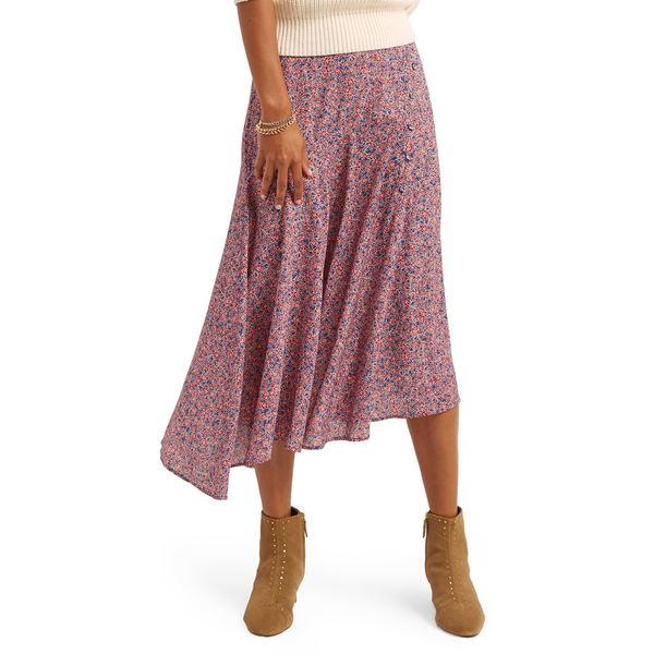 レベッカミンコフ レディース スカート ボトムス Reiana Asymmetrical Skirt Red And Blue