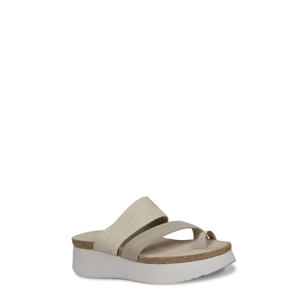 ムンロー レディース サンダル シューズ Aries II Platform Sandal Natural Fabric