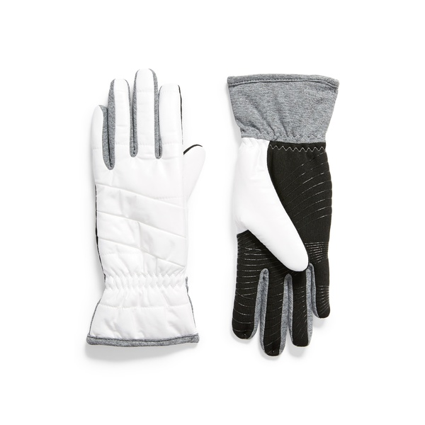 ユーアール レディース 手袋 アクセサリー Weatherproof Touchscreen-Compatible Gloves White