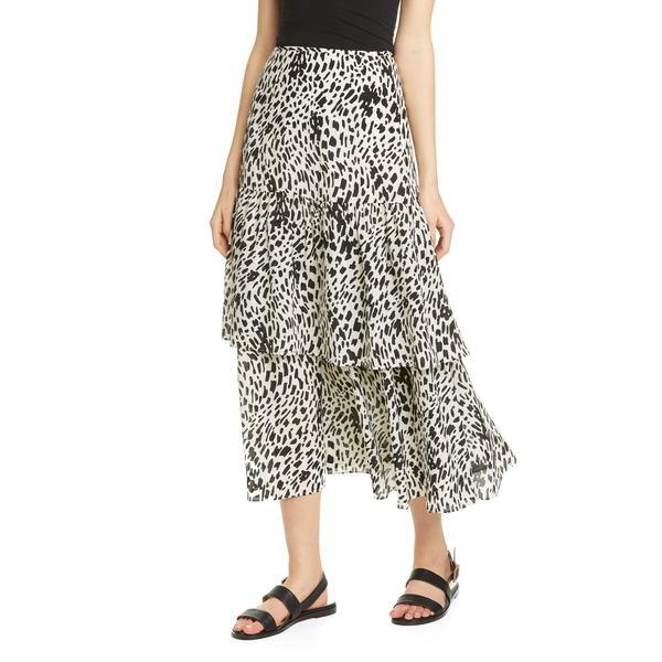 ラファイエットワンフォーエイト レディース スカート ボトムス Zia Tiered Silk Midi Skirt Black Multi