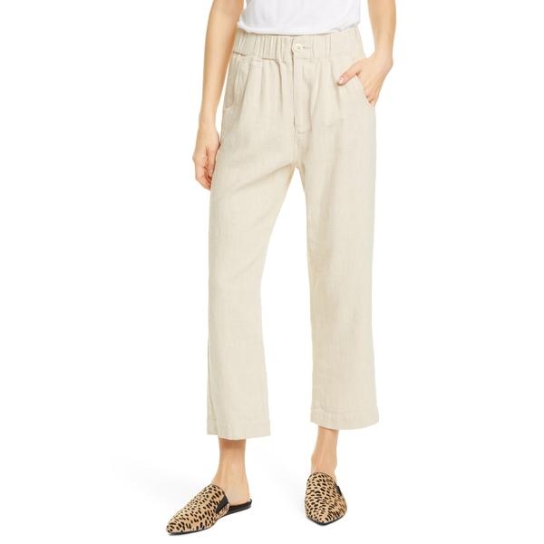 ザ・グレート レディース カジュアルパンツ ボトムス The Sea Linen & Cotton Trousers Cream