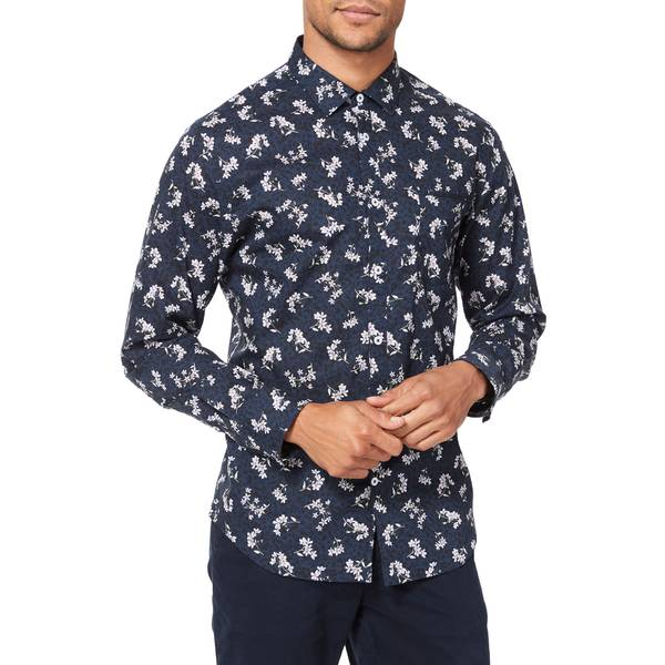 グッドマンブランド メンズ シャツ トップス On Point Slim Fit Button-Up Shirt Navy Maya Floral