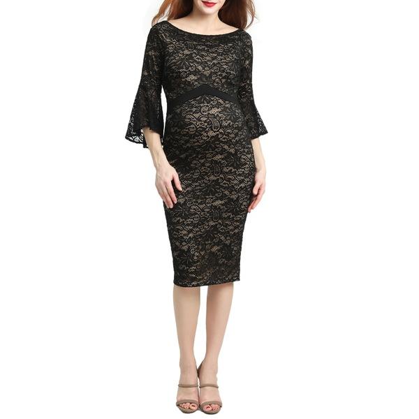 キミアンドカイ レディース ワンピース トップス Lena Maternity Body-Con Dress Black