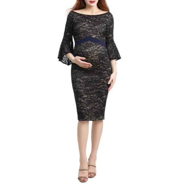 キミアンドカイ レディース ワンピース トップス Lena Maternity Body-Con Dress Navy