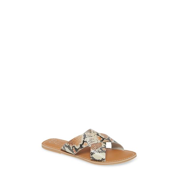 ココナッツバイマッテシィ レディース サンダル シューズ Pebble Slide Sandal White Snake Print Leather
