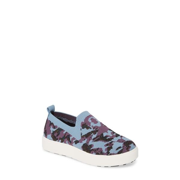 バーニーメブ レディース スニーカー シューズ Jenna Slip-On Sneaker Blue Camo Fabric