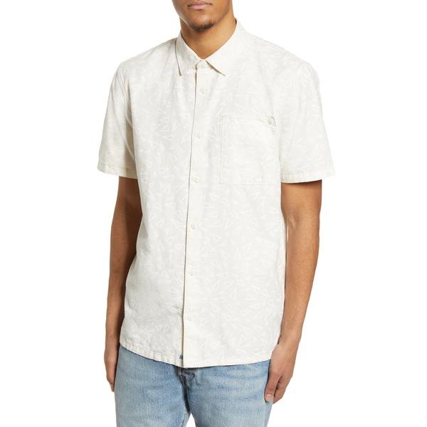 バンズ メンズ シャツ トップス x Pilgrim Surf Supply Short Sleeve Button-Up Shirt Natural