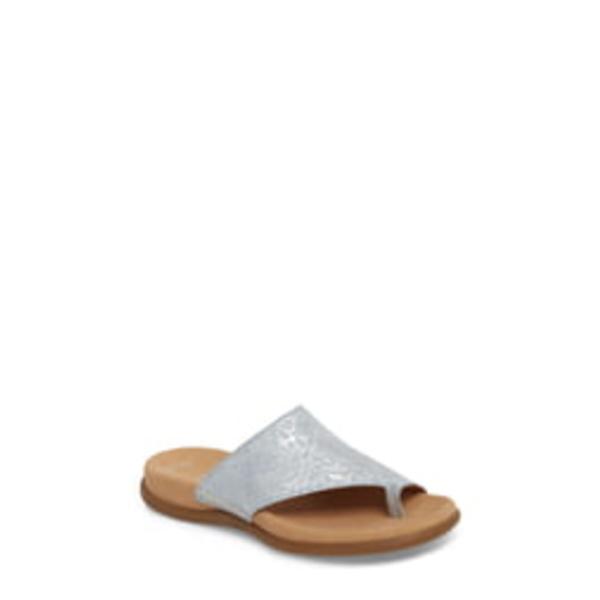 ガボール レディース サンダル シューズ Sandal Blue Metallic Leather