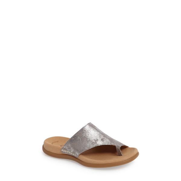ガボール レディース サンダル シューズ Sandal Grey Metallic Leather