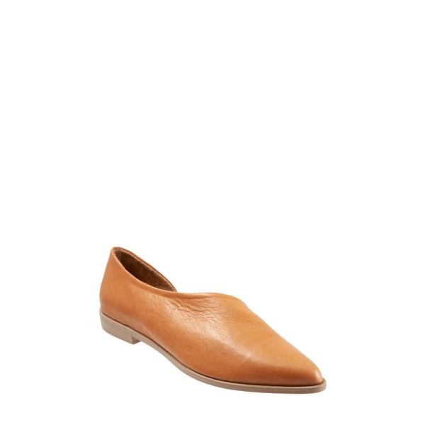 ブエノ レディース サンダル シューズ Brandi Half d'Orsay Flat Tan Leather