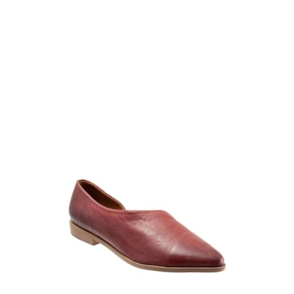 ブエノ レディース サンダル シューズ Brandi Half d'Orsay Flat Plum Leather