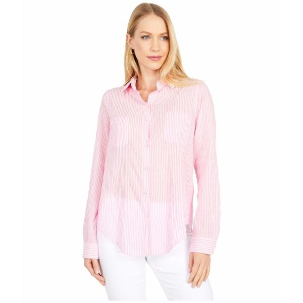 リリーピュリッツァー レディース シャツ トップス Sea View Button-Down Prosecco Pink Lightweight Oxford Stripe