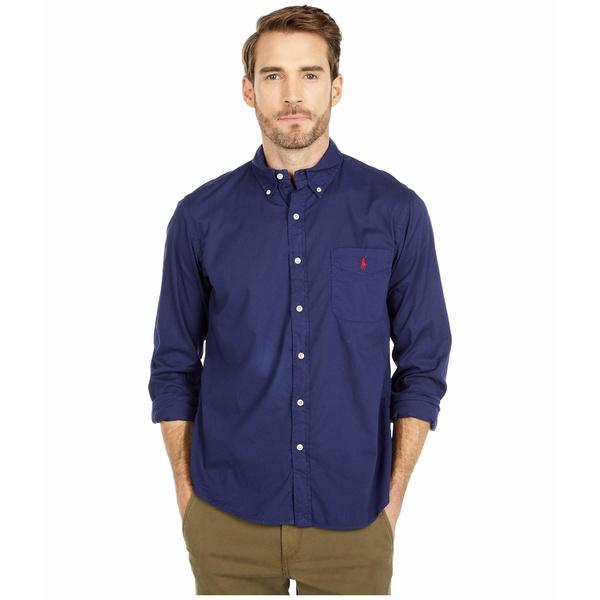 ラルフローレン メンズ シャツ トップス Garment Dyed Chino Shirt Boathouse Navy