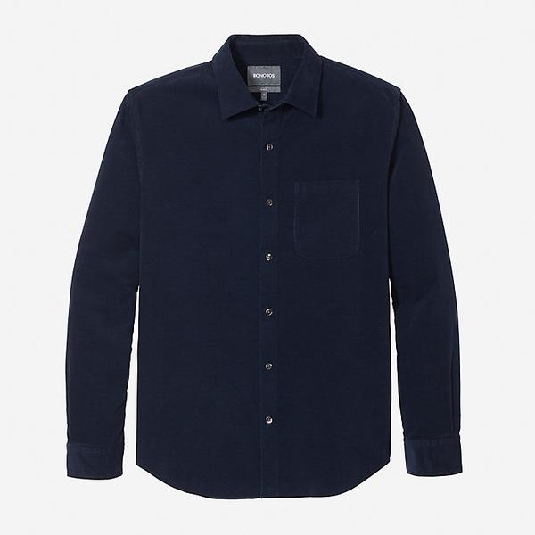 ボノボス メンズ シャツ トップス Bonobos Men's The Cord Shirt Navy
