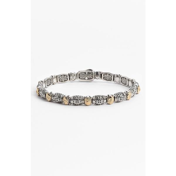 コンスタンティーノ レディース ブレスレット・バングル・アンクレット アクセサリー 'Hermione' Line Bracelet Silver/ Gold