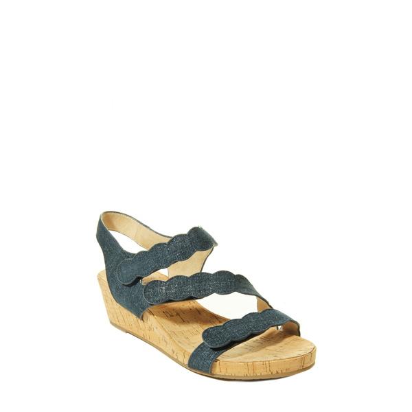 ベネリ レディース サンダル シューズ Kabie Platform Wedge Sandal Jeans Lino Print Fabric