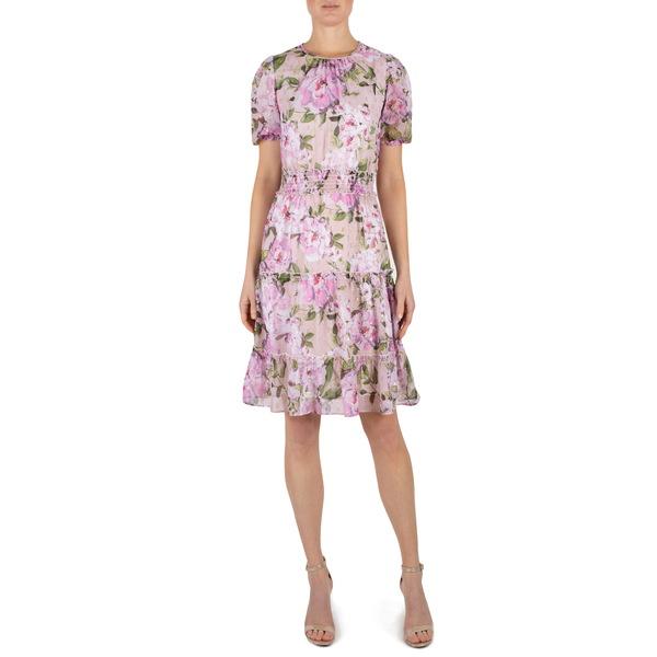 ジュリア ジョーダン レディース ワンピース トップス Floral Print Fit & Flare Dress Blush Multi