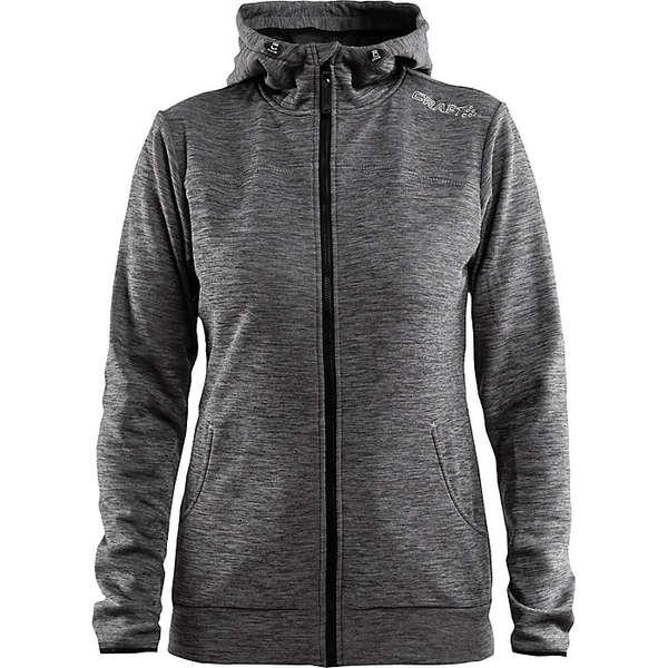 クラフトスポーツウェア レディース ジャケット&ブルゾン アウター Craft Women's Leisure Full Zip Hood Jacket Dark Grey Melange