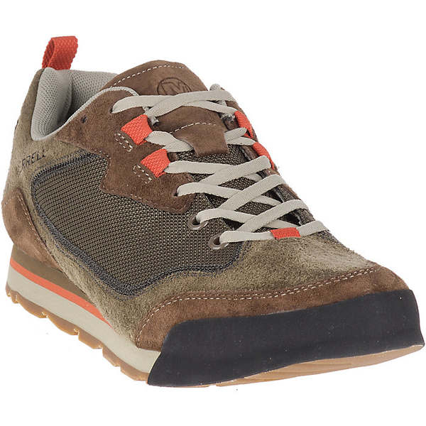 メレル メンズ ハイキング スポーツ Merrell Men's Burnt Rock Travel Suede Shoe Dusty Olive