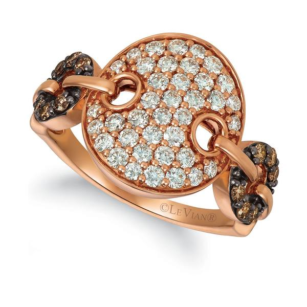 2020人気特価 ルヴァン レディース リング アクセサリー Nude Diamond (3/4 ct. t.w.) & Chocolate Diamond (1/5 ct. t.w.) Statement Ring in 14k Rose Gold Rose Gold, 神栖町 0ab7d8b3